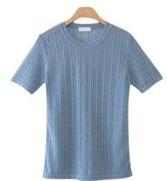 Valley knit short-sleeved shirt - Partial shipping _2 o'clock before payment;