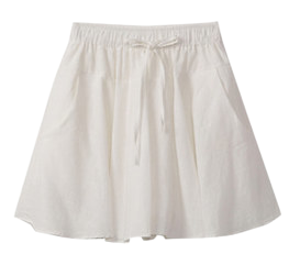 Linen flared skirt pants