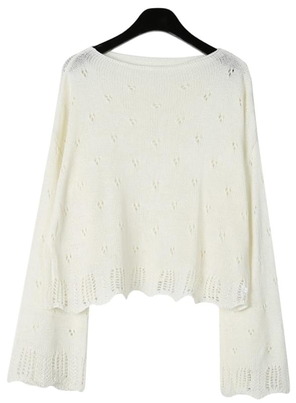 Romantic mood punching knit