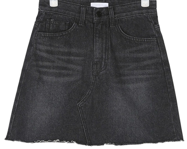 mento black denim skirt (s, m)
