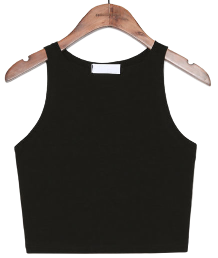 TRENDY SLIM FIT CROP SLEEVELESS