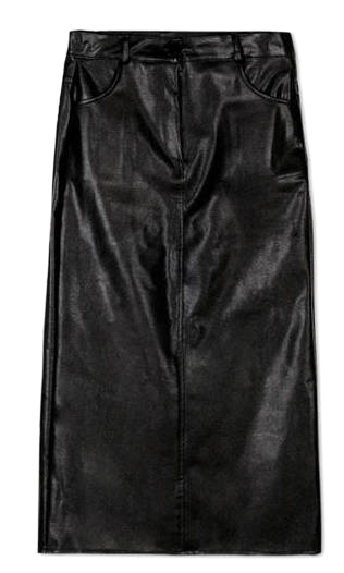 gloss leather pencil skirt (2 color)