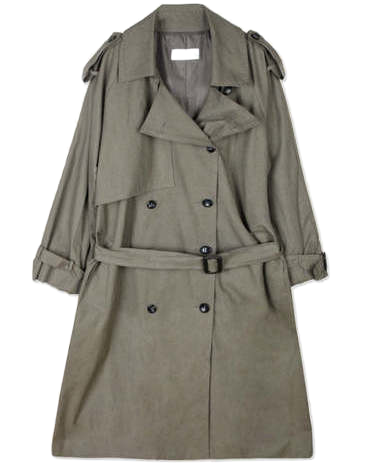 SALE epaulet double trench coat