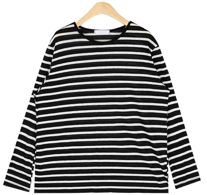 rolly linen stripe T