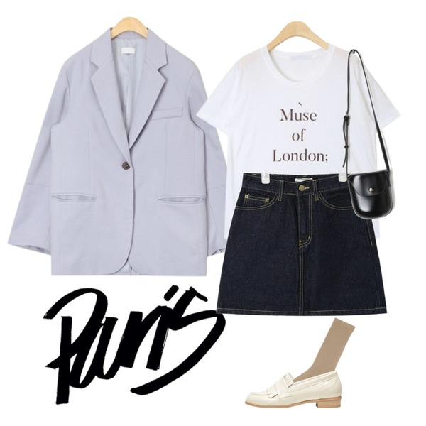 insta @thewriting,AIN to single button jacket,AIN muse london T등을 매치한 코디
