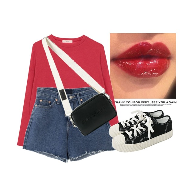 Untitled,lipstick,biznshoe Tension color tee (6colors)등을 매치한 코디