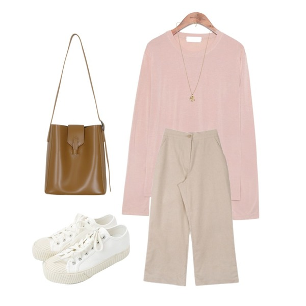 daily monday Simple every day sneakers,MESMIN 스토 와이드 pt (2color),common unique [TOP] 8 COLOR SLENDER MODAL T등을 매치한 코디