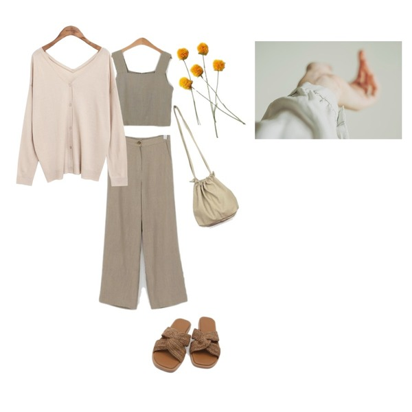 common unique [OUTER] 2 WAY V-NECK KNIT CARDIGAN,LOVELY SHOES 보닌 투피스 SET,LOVELY SHOES 보닌 투피스 SET등을 매치한 코디