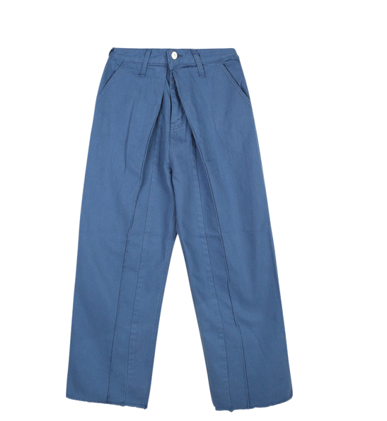 SALE pintuck wide cotton pants