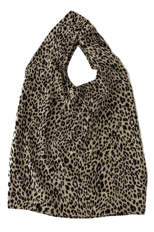 leopard pattern flexible bag