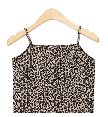 leopard crop sleeveless
