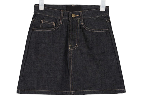 finish A-line denim skirts (s, m)