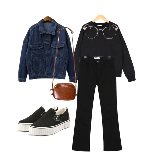 AIN different casual mtm,common unique [BOTTOM] HIGH TENSION SEMI BOOTS PANTS,Cats Onepiece 가을 청자켓등을 매치한 코디