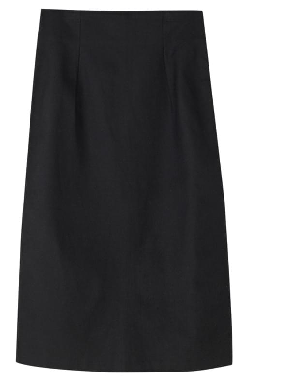 slit point slim long skirt