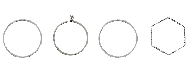 daily simple 4ring set 戒指