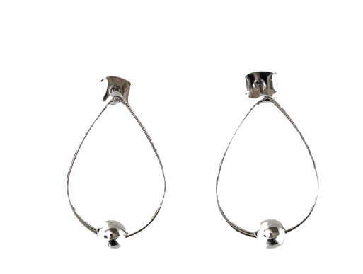 water drop hoop earring
