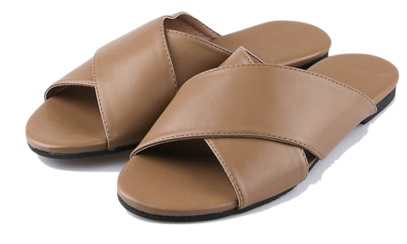 Cross strap slippers