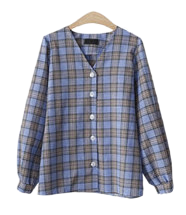 More check blouse