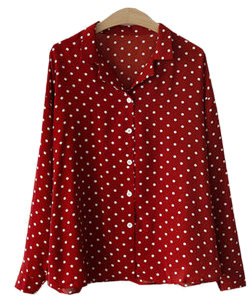 Dot-colored blouse