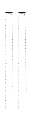 silver chain drop earring