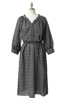 Loose-fitting check dress