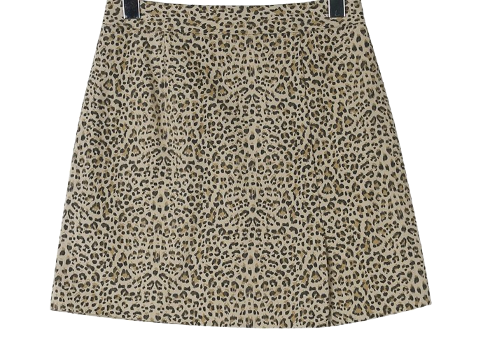 Leopard printed mini skirt