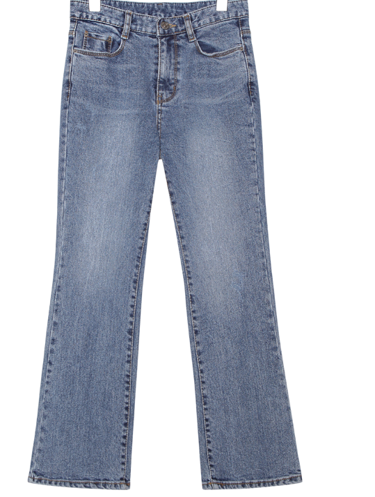 CLEAR SEMI BOOTS DENIM PANTS