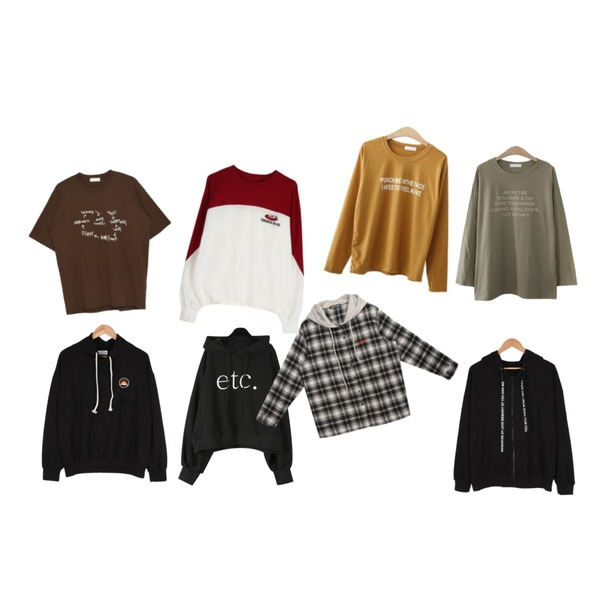 daily monday Etc typo boxy hood,MIXXMIX Dandy Top,ENVYLOOK 마이레터링티셔츠등을 매치한 코디