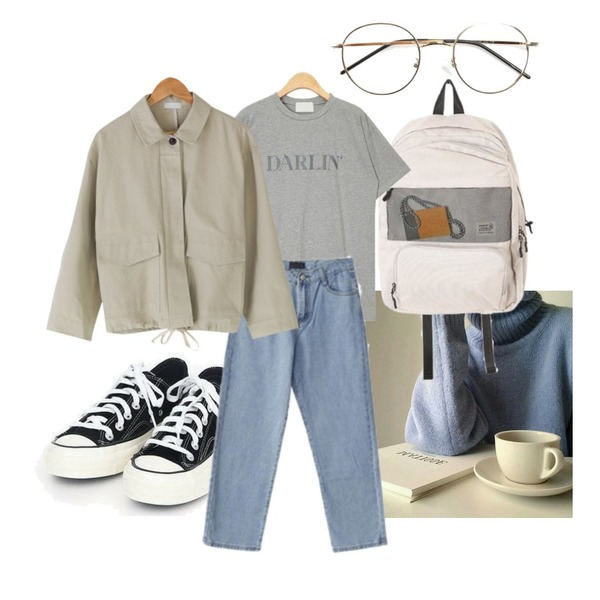 ROCOSIX mesh two pocket backpack,AIN coloring canvas sneakers (225-250),coffee등을 매치한 코디