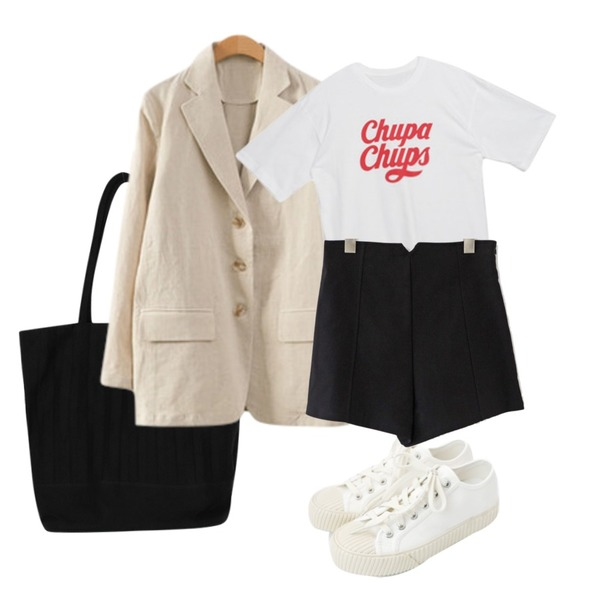 daily monday Simple every day sneakers,From Beginning Accordion shoulder bag_S (size : one),ENVYLOOK [22XX]쓰리버튼린넨자켓등을 매치한 코디