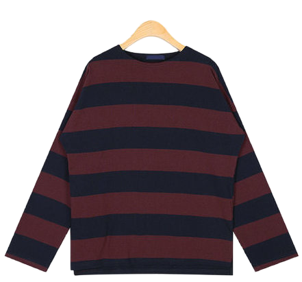 big striped pattern T