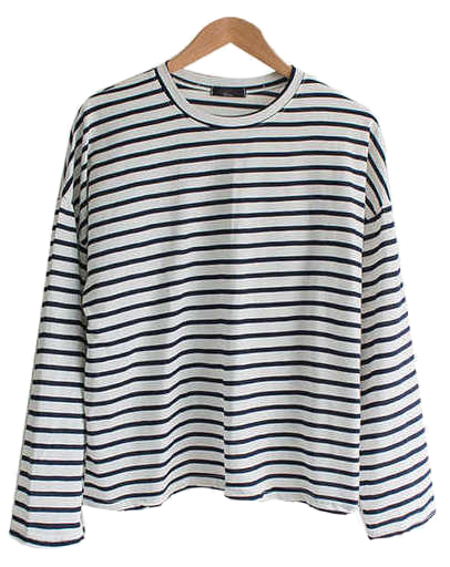 Wide Sleeve Straight Round Tee