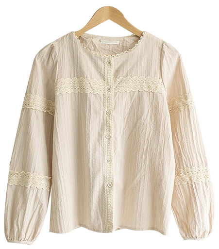 Yodelace wash cotton blouse