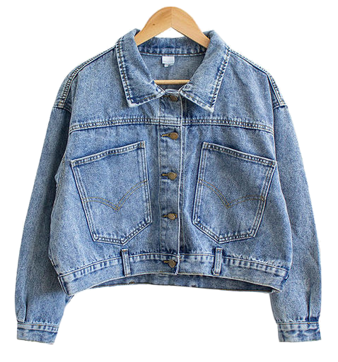 Yomi Unique pocket denim boxing jacket