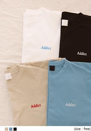 ADDICT Embroidered Lettering T-Shirt