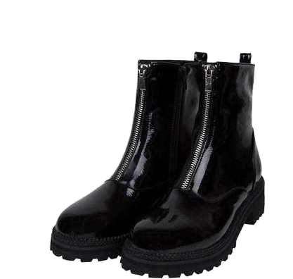 pointed zipper ankle boots (2 type)