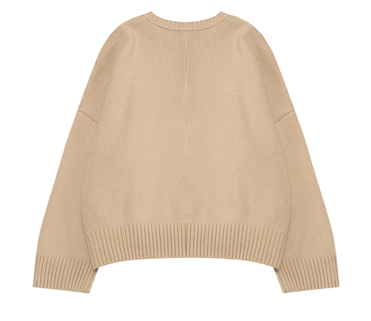 Round rico button knit
