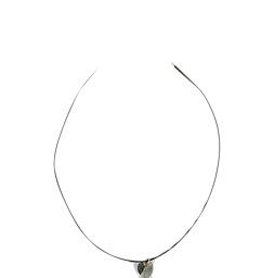 Heart Black Love Ring Necklace