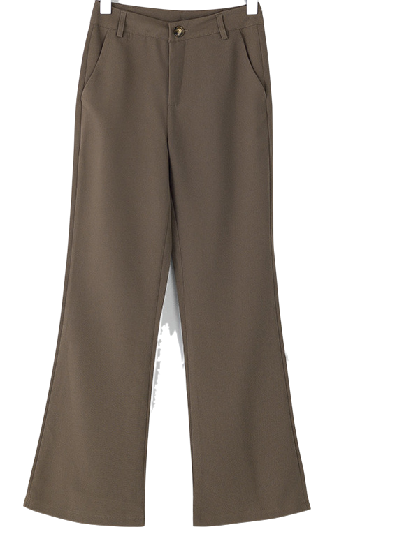 clean semi boots-cut maxi slacks