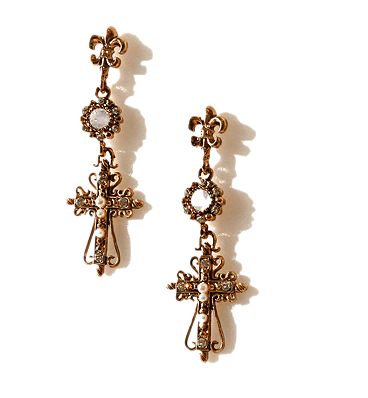 VICTORIAN MIX GEM DROP EARRING
