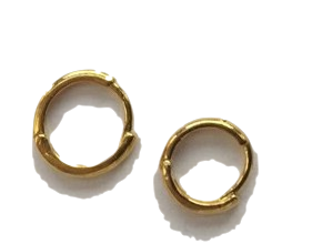 various gold earring (3size)