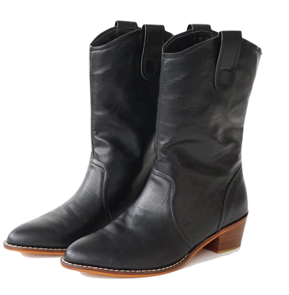 western middle boots (3colors)