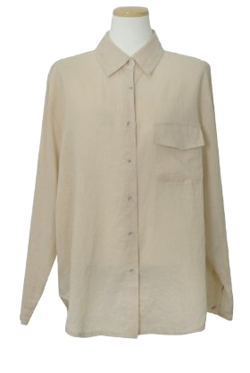 Colored pocket linen shirt