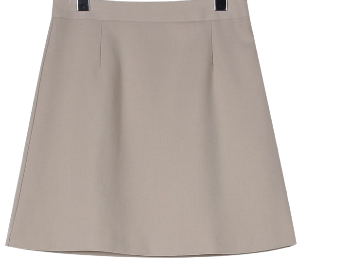 Cozy A-line mini skirt
