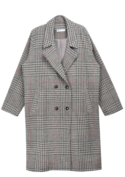Essay Check Long Coat (Wool 10%)
