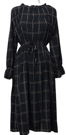 Rizzle - Check Pleated Dress