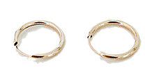 Simple medium circle earrings