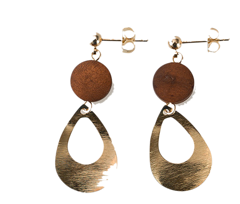advanced wood pendant earring