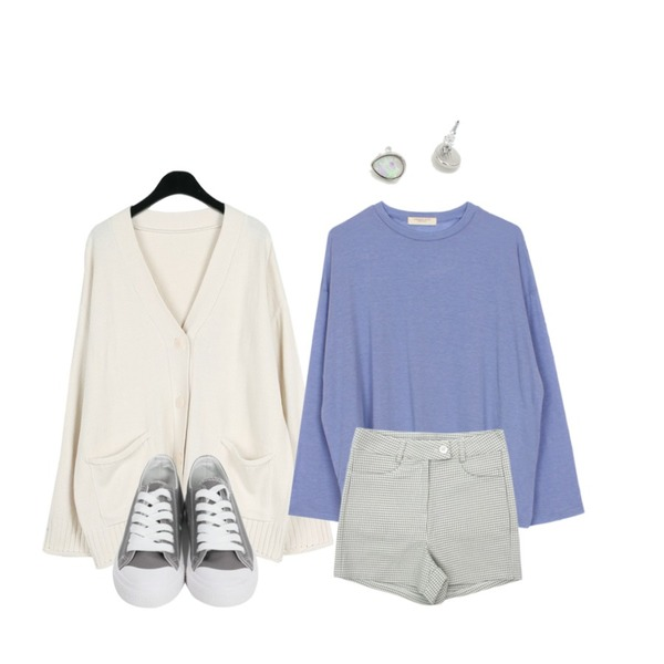 걸즈비 하운드 하이숏p,daily monday Mild adorable cardigan,biznshoe Tension color tee (6colors)등을 매치한 코디