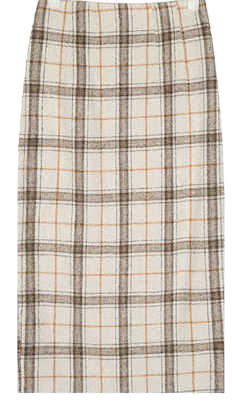 audrey check long skirt (s, m)